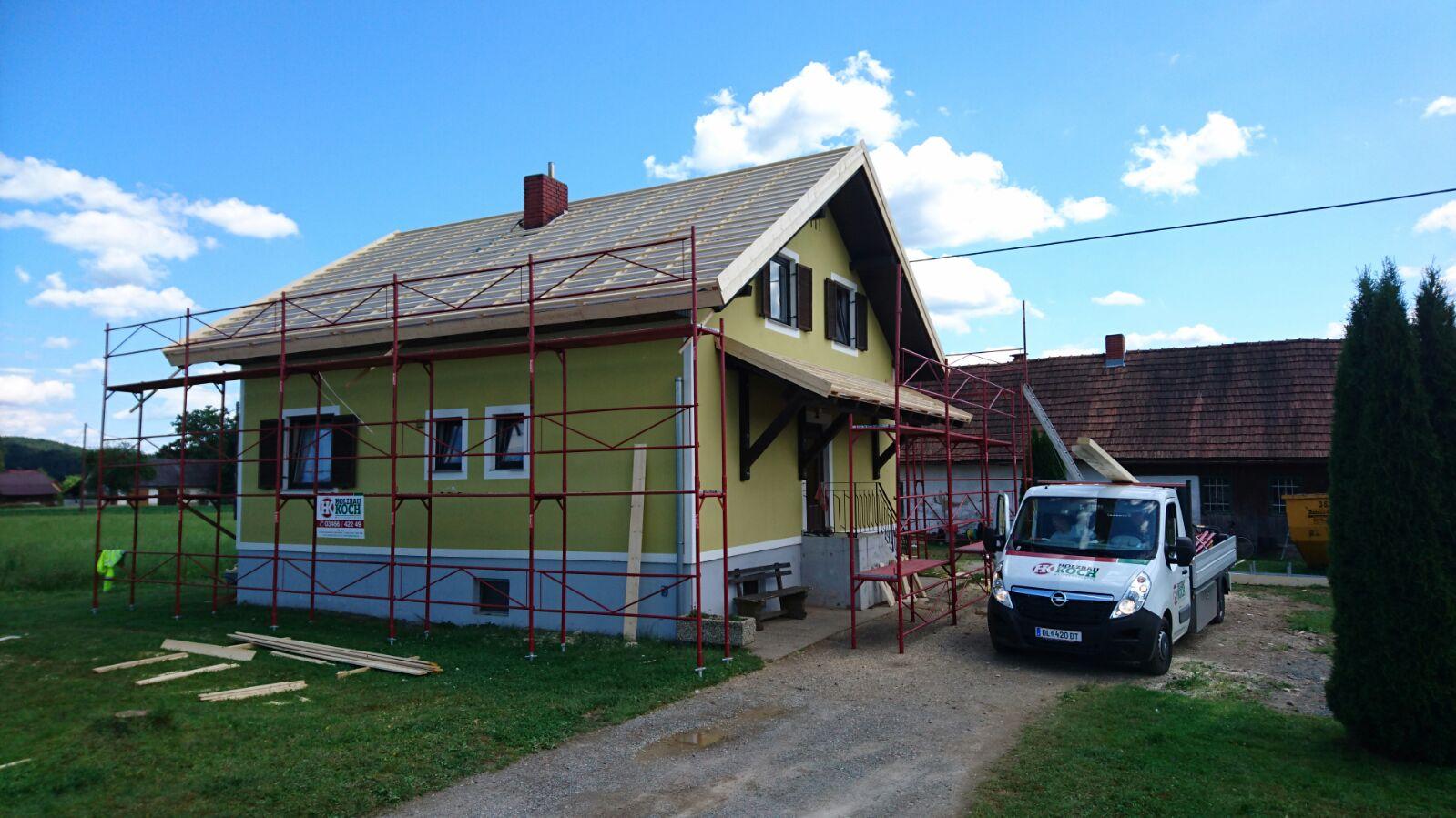 Dachsanierung - Verstäˆrken einer bestehenden Dachkonstruktion