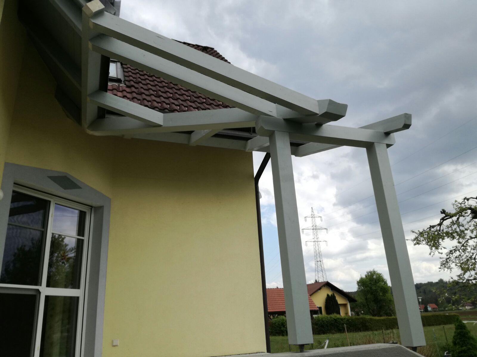 Terrassenüˆberdachung füˆr ein Glasdach